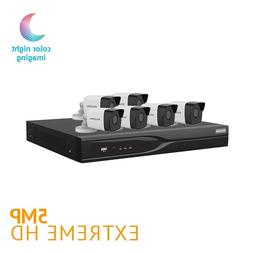 ​8 Channel DVR Security System w/ 6 HD 5MP Starlight Color