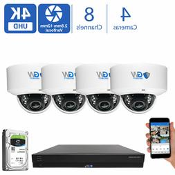 GW 8CH Security Camera System DVR  8MP CCTV 2.8-12mm Varifoc