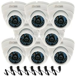 8 x Security Cameras Wide Angle w/ SONY CCD Outdoor Day Nigh