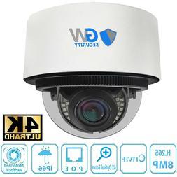 8MP 2160p @30fps 4K IP 4X Optical Motorized Zoom Dome PoE Se