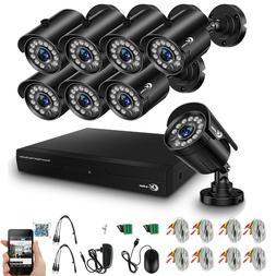 XVIM 8CH 1080P HDMI DVR Outdoor Night Vision 1920TVL CCTV Se