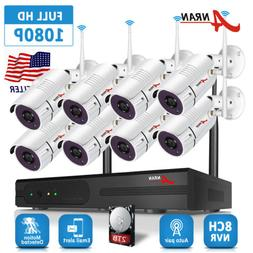 ANRAN 8CH 1080p NVR Home Security System Wireless Outdoor IP