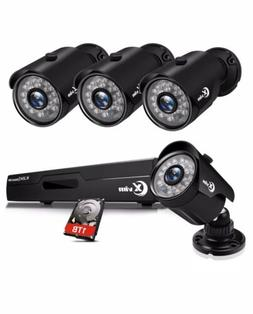 8CH 1080P security camera system 1TB Hard Drive With Night V