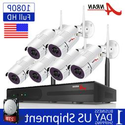 8CH 1080P Wireless Home Security Camera System Outdoor IPC N