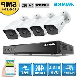 ANNKE 8CH 4K 8MP DVR 5MP HD CCTV IR Security Camera System M