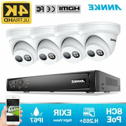 ANNKE 8CH 4K POE Security Camera System 8MP Video Night NVR