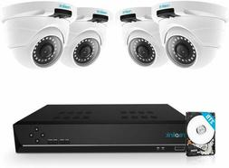Reolink 8Ch 5Mp Poe Home Security Camera System, 4Pcs Wired