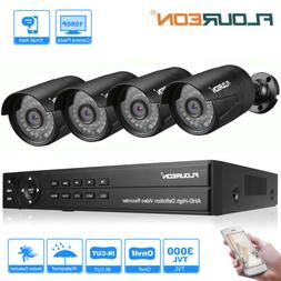 8CH 1080P AHD DVR CCTV +4x 3000TVL Camera Home Security Syst