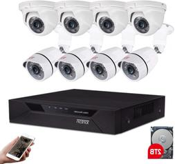 Tonton 8CH Full HD 1080P Home Security Camera System Outdoor