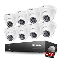 ZOSI 8 Channel H.265+ 4K 8MP Security Camera System Outdoor
