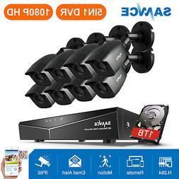 SANNCE 8CH 1080P HDMI DVR 3000TVL IR CCTV Video Home Securit