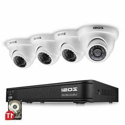 ZOSI 720P 8CH HDMI DVR 1500TVL IR Outdoor CCTV Security Dome