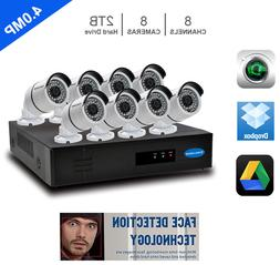 8CH 5MP 1080P NVR  FACE DETECTION 8 x 4MP SONY CMOS IP Secur