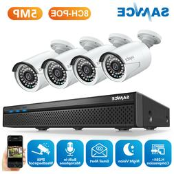 SANNCE 8CH NVR POE Security System Outdoor 5MP Video IP Came