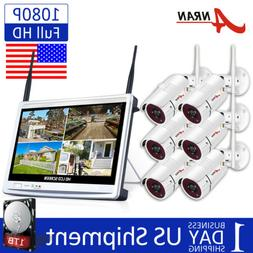 8CH Wireless Outdoor Home Security Camera System with 1TB Ha