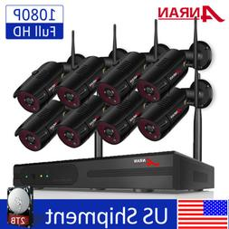 ANRAN 1080P Wireless Home Security Camera System 8CH Outdoor
