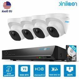 8MP 8CH POE Security Camera System 4K NVR Kit 7/24 Recording
