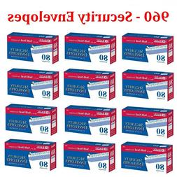 """960 Peel and Self-Seal White Security Envelopes 3-5/8"""" x 6"""
