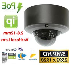 GW 5MP  1920P IP PoE Cam 2.8-12mm Varifocal Zoom Security Do