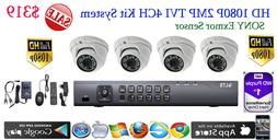 HD TVI 4CH DVR LTS LTD8304T-FT +1TB WD HD +4x Sony Exmor 2MP