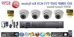 HD TVI 4CH DVR LTS LTD8304T-FT + 4x Sony Exmor 2MP Dome Came