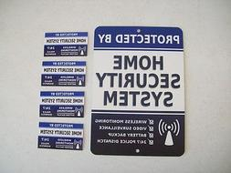 Home Security Alarm System Yard Sign & 4 Window Stickers - S