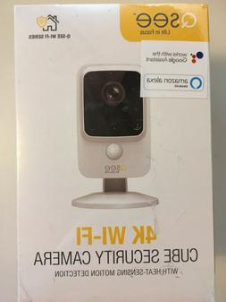 New Q-See QCW4K1MCW 4K Wi-Fi Cube Home Security Camera With