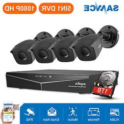 SANNCE 1TB Hard Drive 3000TVL Outdoor 4CH DVR Video IR Secur