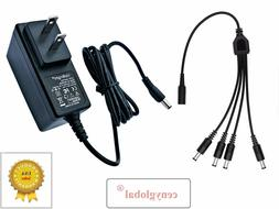 AC Adapter & 4-Way Power Splitter For Night Owl 720p 1080p S