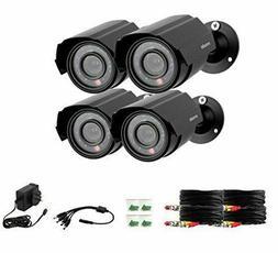 Zmodo 4-Pack Analog CCTV 700TVL HD Motion Bullet Security Ca