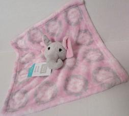 Hudson Baby Animal Friend Plushy Security Blanket, Girl Elep