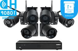 LOREX Audio Rechargeable Security Camera System 1TB 6 Wirele