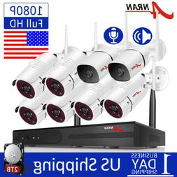 ANRAN Audio WIFI Security Camera System Outdoor Wireless 8CH