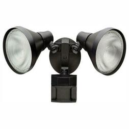 Defiant 180 Degree Outdoor Black Motion-Sensing Security Lig