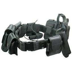 Black Tactical Nylon police Security Guard Duty Belt Utility