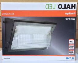 Halo Bronze Outdoor Integrated LED Wall Pack & Area Security