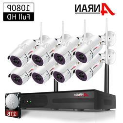 ANRAN CCTV 2MP Security Camera System Wireless 1080P WIFI NV