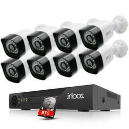 ANRAN CCTV Security Camera HDMI 1080P 4CH/8CH DVR Video Home