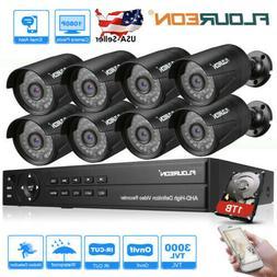 CCTV Security Camera System 1080P 8CH AHD DVR 3000TVL Outdoo