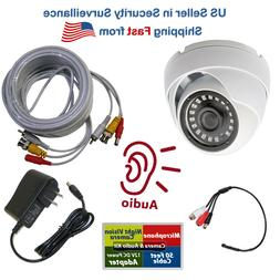 1080p CCTV Security Camera w/ Microphone Audio Video DC Powe