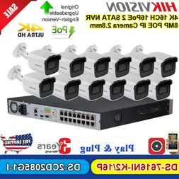 Hikvision CCTV System 4K 16CH POE NVR 8MP Darkfighter Bullet