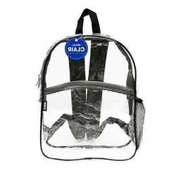 "BAZIC Clair 17"" Clear Transparent Backpack, Work School Secu"