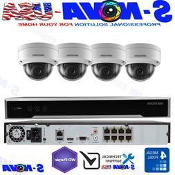 Hikvision DS-7608NI-Q2/8P 8 CH 4K 8MP NVR 4 x 4MP Dome IP PO