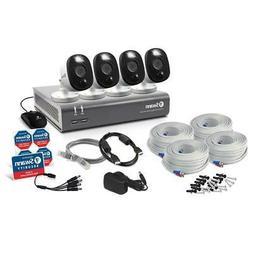 Swann DVR 4580 8-Ch FHD 1TB DVR Security System with 4 Warni