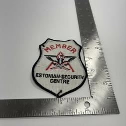 ESTONIAN SECURITY MEMBER  SHOULDER PATCH