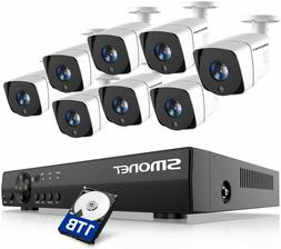 SMONET FHD Security Camera System,8 Channel 5-in-1 HD DVR Ou