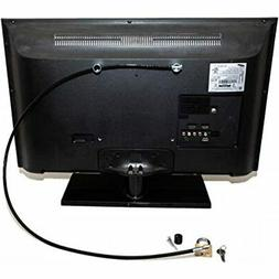 Flat Screen TV Lock Anti-Theft Cable Security Kit Computers