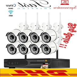FREE DHL~~HIGH Wireless Security Camera Set System 2MP 8CH W