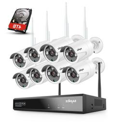 SANNCE 8CH NVR Full 1080P Wireless 2MP Security IP Camera Sy