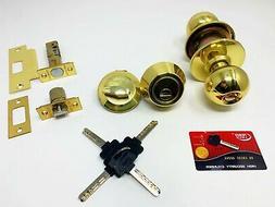 Grip Tight Tools High Security Knob+Deadbolt Combo Lock Set